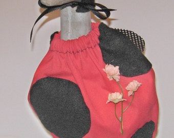 """Lady bug outfit for summer decorating for 14"""" cement lawn goose"""