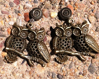 Perched Owls Earrings