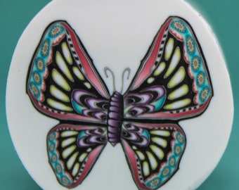 LARGE Polymer Clay Butterfly Cane -'Mystical Meadow' (20dd)