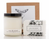 Spa Set - Milk & Honey Candle and Soap Gift Set