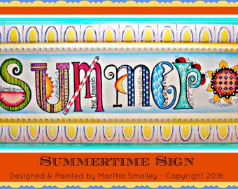 Apple Tree Cottage Original Design E Pattern - Summer Sign