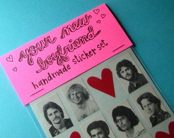 your new boyfriend handmade sticker set