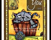 942 Feline Shenanigans Digi Stamp