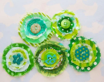 Colorful Frayed Fabric Embellishments - St. Patrick's Day