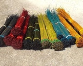 RESERVED FOR J--- Dyed Pine Needles Basketry Coiling Material Dyed Bundle Long Leaf Pine for Basketmakers Pine Needle Basket Supply