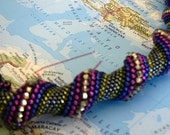 Cellini Spiral Beaded Necklace (Mexico)