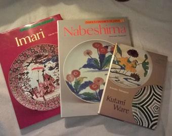 KUTANI WARE Tokyo Kodansha International 1979 1st Edition 1st Book, plus TWO Bonus Books, Japanese Pottery