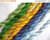 Crewel Yarn, 8 Twists, Made in Denmark, Cotton, Mixed Colors, Handicraft Needlework Embroidery Supply