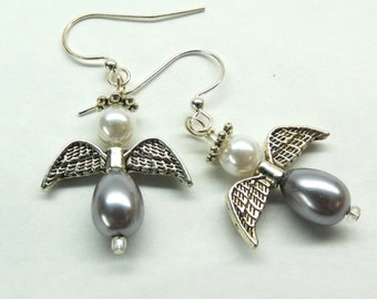 Silver Angels Earrings