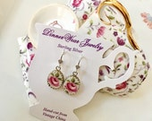 Reserve for Lisa Unique Family Christmas Gifts, Custom Broken China Earrings, Memorial, Tea Cup Jewelry, Sister Gift, In Memory of, Gift for