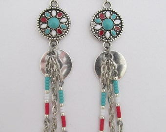 Native American Style Dangle Earrings