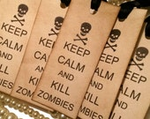 HALF PRICE, Keep Calm Tags, Halloween Tags, Zombie Tags, Halloween Zombie Tags, New Halloween Tags, Zombie Apocalypse, skull tags