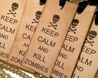 HALF PRICE, Keep Calm Tags, Halloween Tags, Zombie Tags, Halloween Zombie Tags, New Halloween Tags, Zombie Apocalypse, skull tags