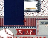 Play Ball - Premade Baseball Scrapbook Page