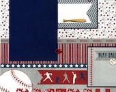 Spielen Sie Ball - vorgefertigten Baseball Scrapbook Seite