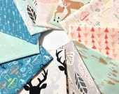 Hello Bear fabric bundle by Bonnie Christine, Deer Fabric, Art Gallery Fabric- Fabric Bundle of 11, Choose The Cuts, Free Shipping Available