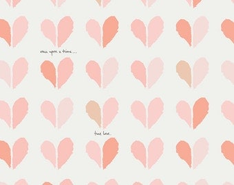 Paperie fabric, Heart fabric, Floral fabric, Book Lover Gift, Paperie fabric by Art Gallery, Cotton Fabric by the Yard, Happily Ever After