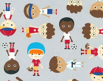 Sport Kids, Boy Fabric, Soccer fabric, Baseball fabric, Basketball fabric, Karate fabric, Ann Kelle, Boys in Adventure, Choose Your Cut