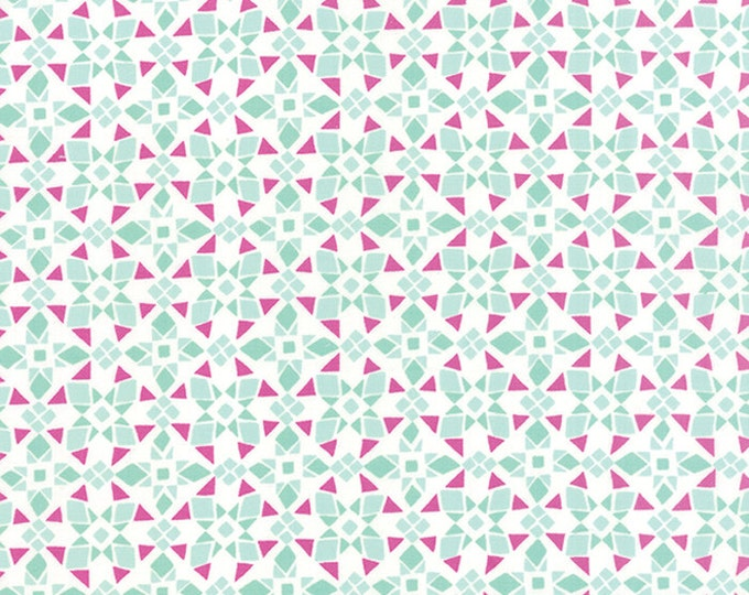 Fabric by the Yard, Cotton Fabric, Canyon fabric by Kate Spain, Four Corners in Agave Amethyst. Choose the cut. Free Shipping Available