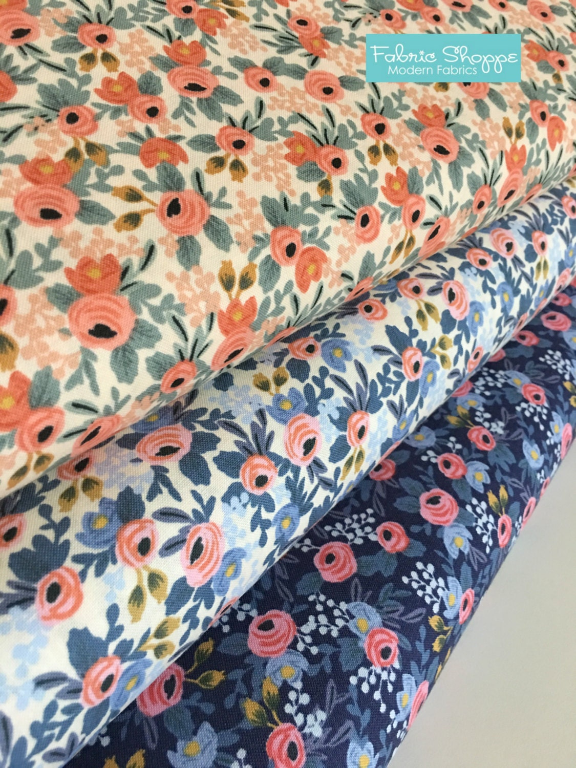 rifle paper co fabric sale canvas linen fabric cotton and steel 1