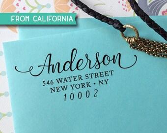 CUSTOM ADDRESS STAMP - Self inking Stamp, Rubber Stamp, Return Address stamp, Personalized Stamp, rsvp Address Stamp, Wedding Stamp 301
