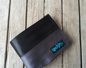 Seat Belt Wallet with change pocket - One Of A Kind - Recycled Wallet - Seatbelt BiFold
