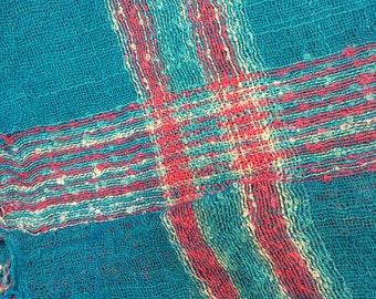 Turquoise boho scarf