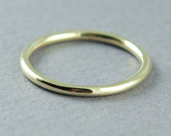 Solid Gold Band Ring, Rose Gold, Yellow Gold, Wedding Band, Round Band, 14K Gold, Simple Gold Ring, Made to Order, Free Courier Shipping