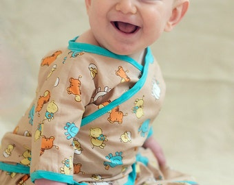 Kimono Pattern for Babies -- 0m - 24m PDF Instant by Whimsy Couture