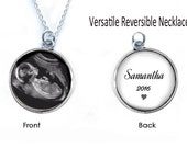 2 Sided Baby Sonogram Necklace, Ultrasound Necklace, Pregnancy Gift , New Baby Necklace, birth announcement, New Mother Necklace