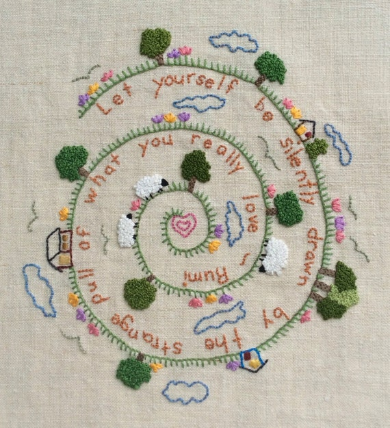Hand Embroidery Pattern Pdf Instant Download Rumi DIY