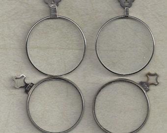 4 Antique trial optical Lenses.. steampunk monocle type
