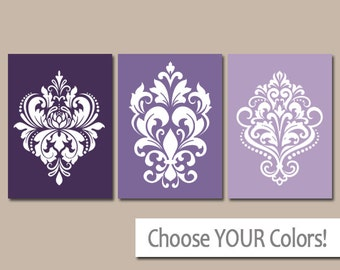 damask wall art canvas or prints purple bedroom pictures purple bathroom artwork purple
