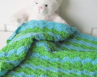 Crochet Baby Blanket, Baby Shower Gift, Crochet Baby Travel Blanket, Stroller-Car Carrier Baby Gift - Boy or Girl Baby Blanket