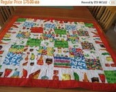 Birthday Sale The Very Hungry Caterpillar Quilt Crib Size Quilt