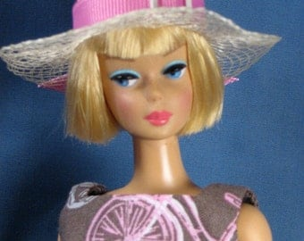 Barbie Clothes - Bicycle Print Dress and Hat Set