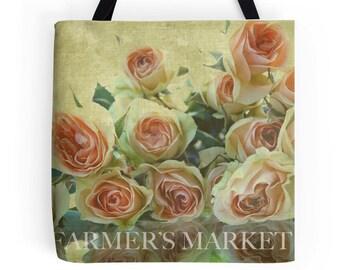 Farmer's Market Tote Bag - Roses
