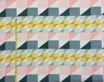 NEW Art Gallery Trekant Rows Candid on cotton Lycra  knit fabric 1 yard.