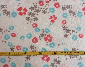 "NEW Cloud 9 Floral on Organic Cotton Interlock 48"" wide per yard"