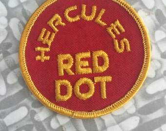 "Vintage Hercules ""RED DOT"" Shooters Patch Gun Patch Shooting Patch New Old"