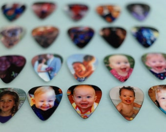 Photo Guitar Pick, Custom Guitar Pick, Mens Gift Ideas, Womens Gift Ideas, Double Sided Photo with Text, Personalized Guitar Pick, Keepsake