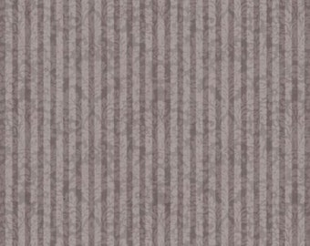 Mirabelle- La Vie En Rose - Santoro for Quilting Treasures -Purple/Gray Stripe - Full Yard Cut - Cotton Fabric