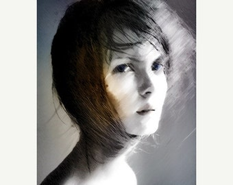 On Sale Art, Photography, Surreal Photography, Woman Portrait, Ethereal Photo Montage, Fine Art Print, Photomontage, Collage, Painted Photog