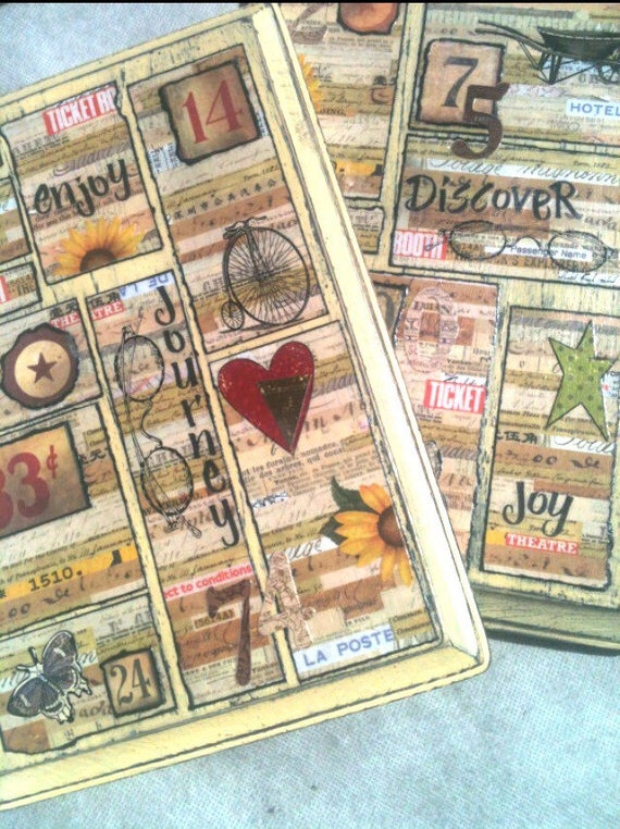 French Country , 2, Gift, Mixed Media, Gifts for Her, Collage Art, Cottage Chic, Home Decor, Journey, House Warming, Bridesmaid Gift