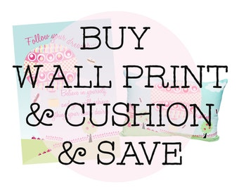 Buy any personalised cushions and wall art and save