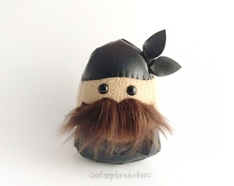 Mustached Motorcycle Plushie, No Shave November Stuffed Man, READY TO SHIP
