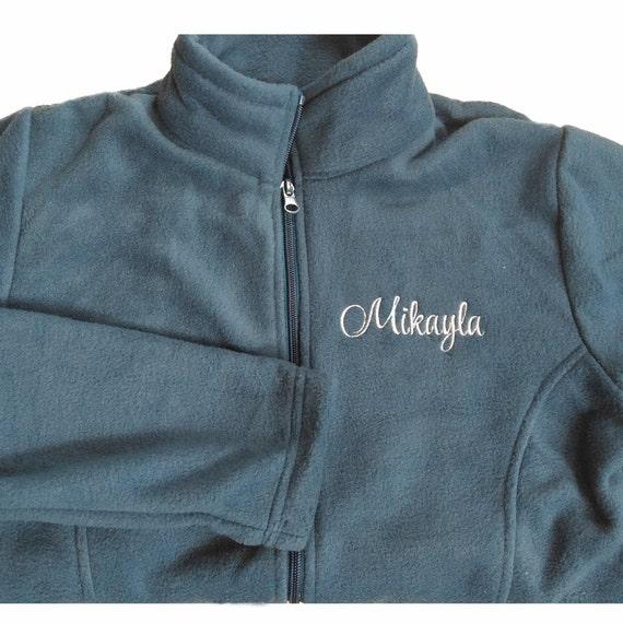 Embroidered monogrammed women s fleece jacket