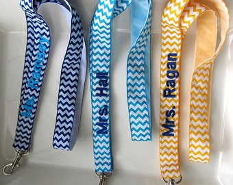 Chevron Lanyard Personalized