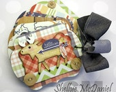 """Rustic Style """"Hello Adventure"""" Mini, Scalloped Shaped Scrapbook Photo Album, Journal for Camping, Hiking, Outdoors, Simple Stories"""