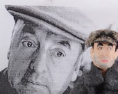 Pablo Neruda- Author and Writer- Poetry Literature- Miniature Art Doll-  Uneek Doll Designs